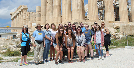 MC students and faculty in Greece