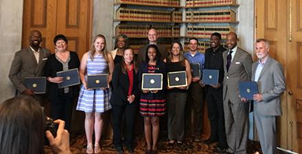 THEC Service Award recipients