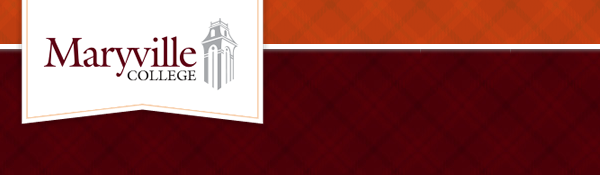 Maryville College logo and tartan background