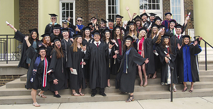 Happy grads after Commencement