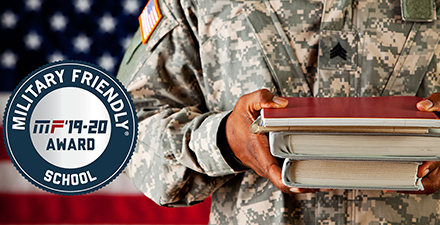 Military Friendly School logo and graphic
