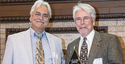 Don Williams and Kim Trevathan at awards gala
