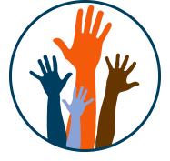 Raised hands graphic