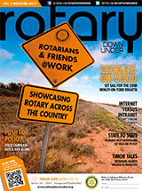 Rotary Down Under Magazine April Cover
