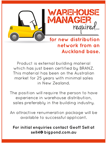 Warehouse Manager advertisement