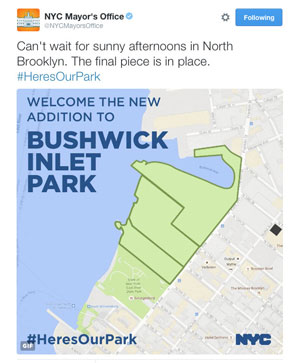 Welcome the New Addition to Bushwick Inlet Park