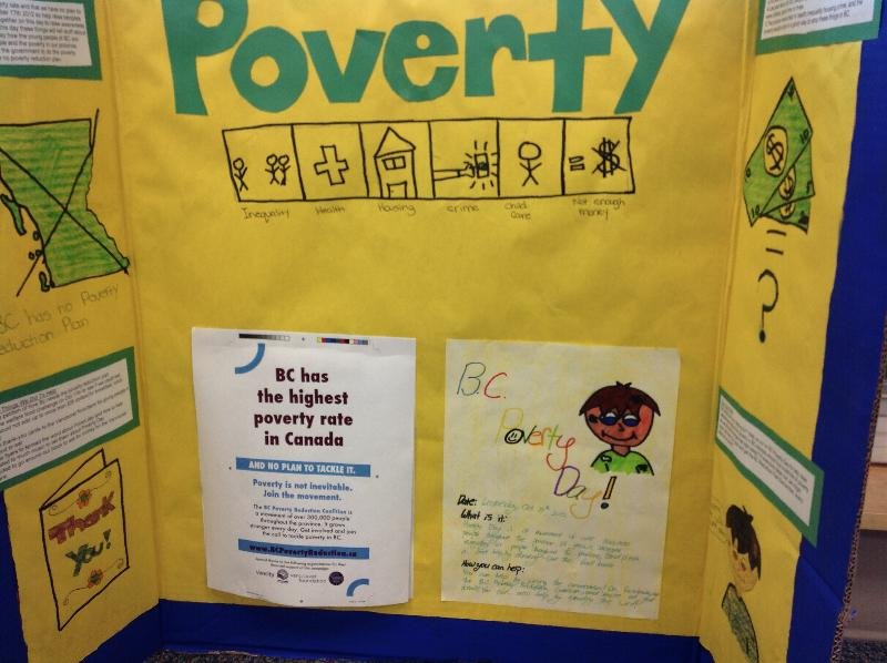 End Poverty Day display