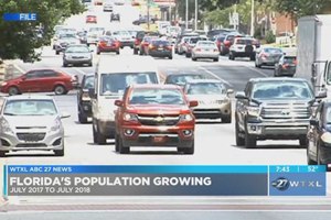 Picture of car traffic in Florida