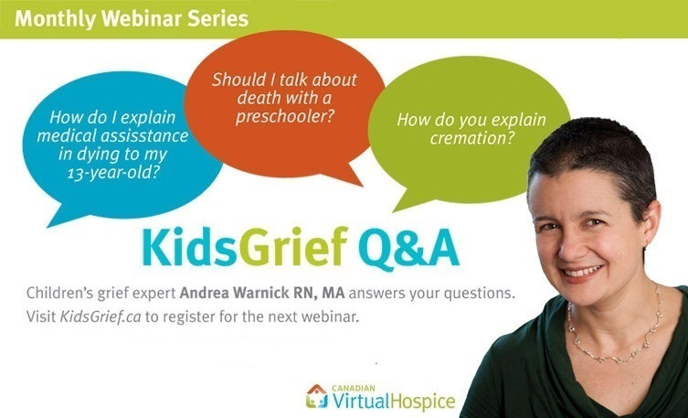 KidsGrief Q&A monthly webinar promotional image