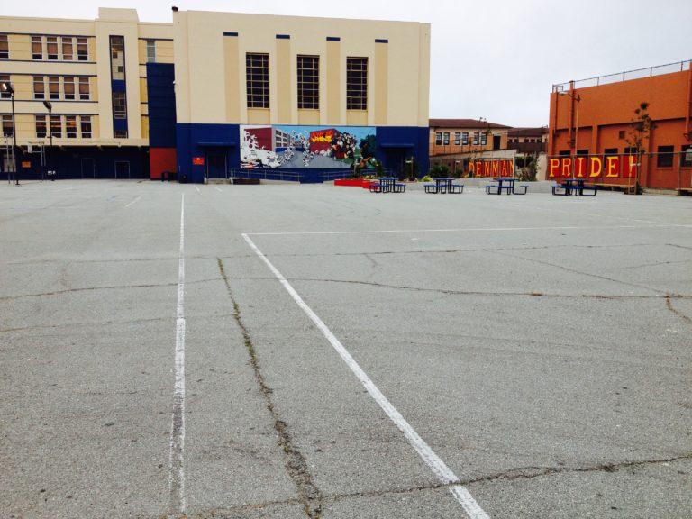 Rear Yard of James Denman Middle School