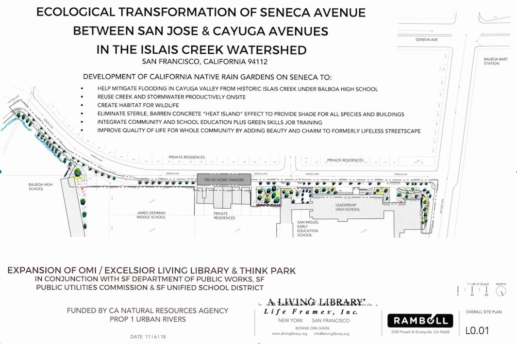 Site plan for Ecological Transformation of Seneca Avenue