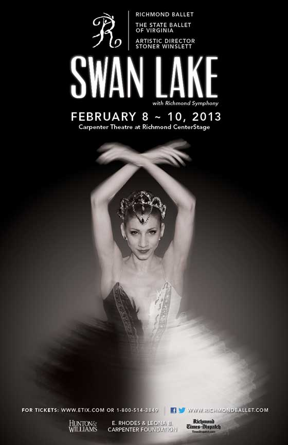 Richmond Ballet Swan Lake, Feb 8-10, Carpenter Theatre