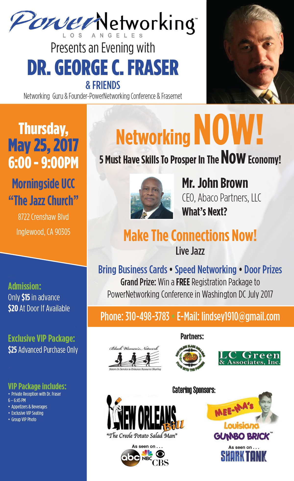 MAY 25 :: Power Networking Los Angeles presents An Evening with Dr. George C. Fraser & Friends