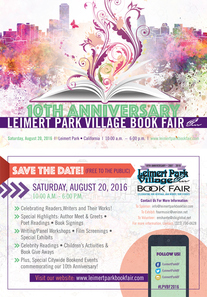 AUG 20 :: 10th Anniversary Leimert Park Village Book Fair