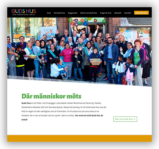 Ny webbplats för Guds Hus