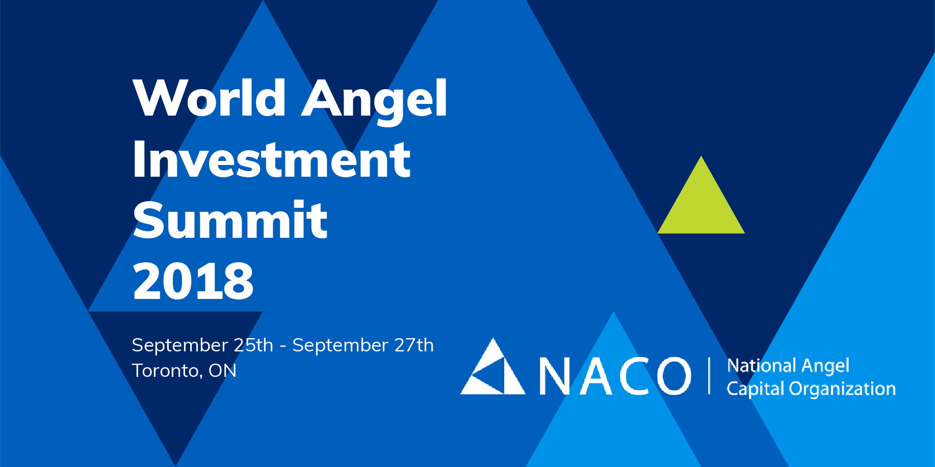 York Angel Investors - World Angel Investment Summit 2018