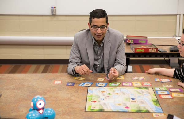 Aman Yadav works with games, robots to help encourage learning.