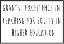 Text reads: Grants Excellence in teaching for equity in higher education