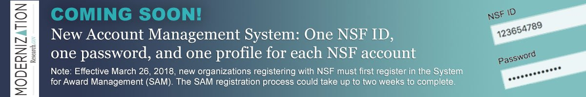Coming Soon - New NSF IDs