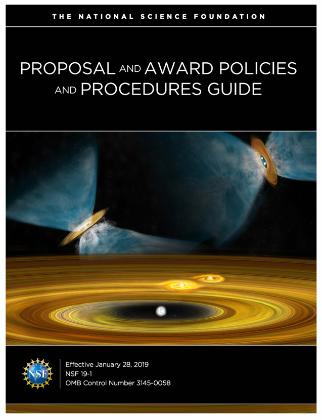 Proposal & Award Policies & Procedures Guide (PAPPG), January 2019