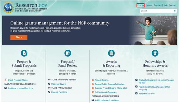 Research.gov website