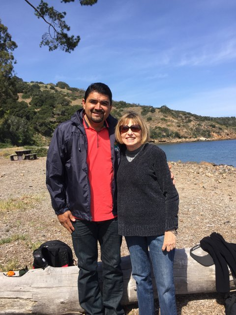 Mayors of Loreto and Ventura on Santa Cruz Island