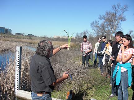 Teaching a class at San Joaquin Marsh