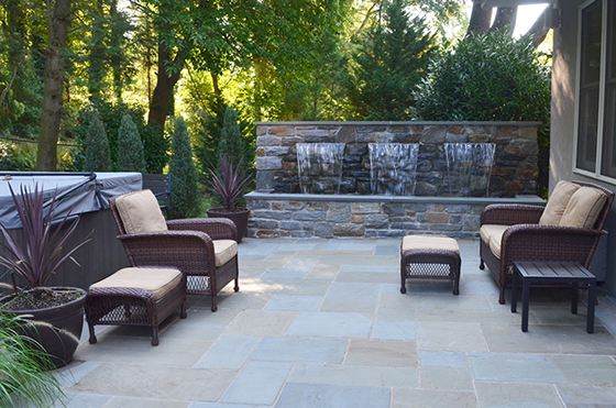 Spa Patio with Fountain