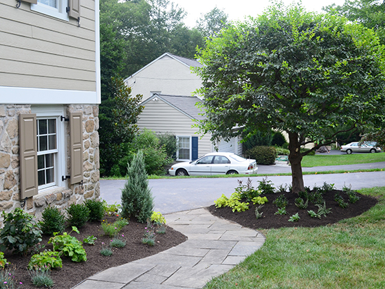 After, front walk