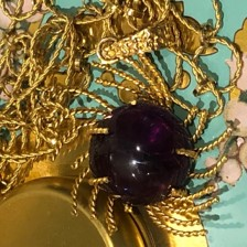 Baroque Rocks: 1960s Oversized Cabochon Amethyst Necklace