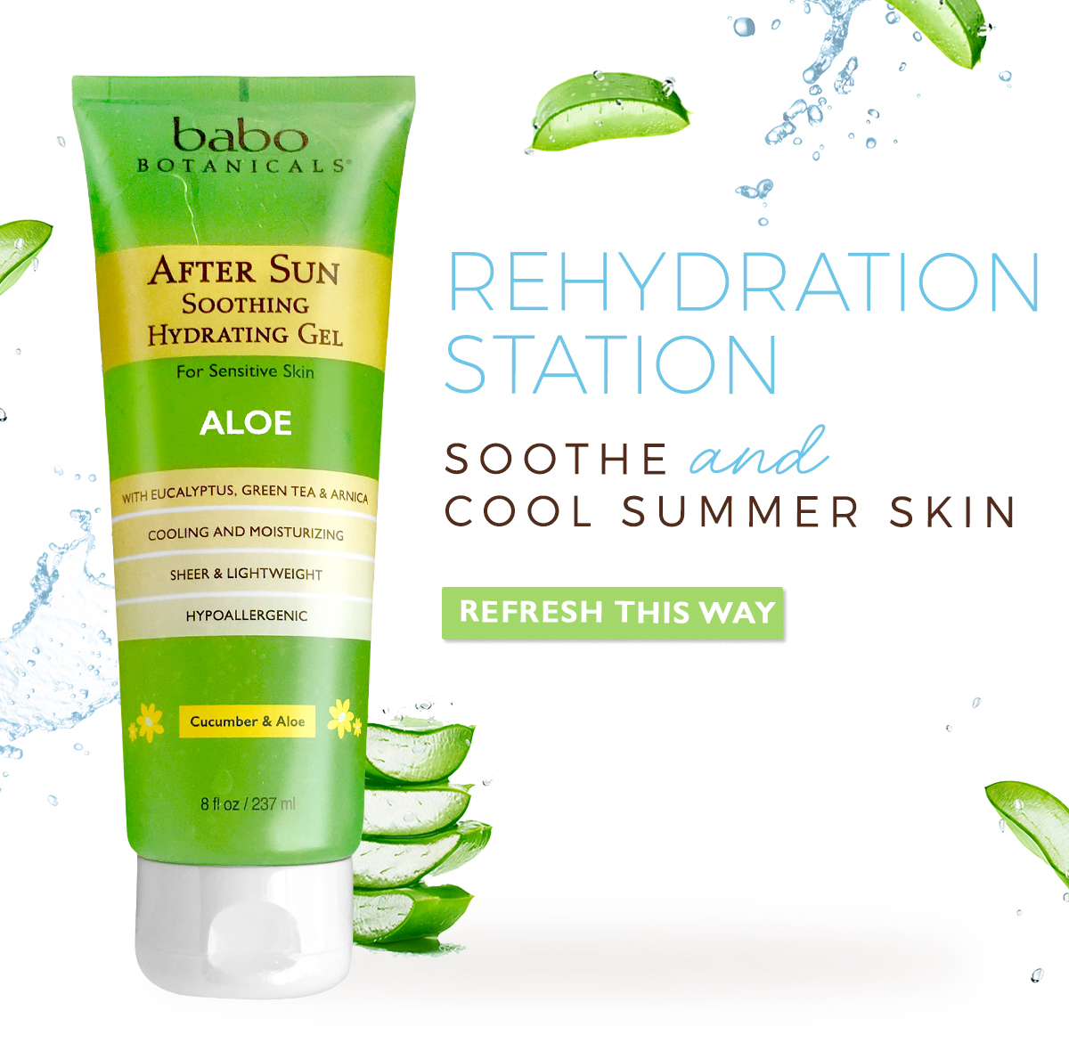 REHYDRATION STATION | Soothe and cool summer skin | Refresh This Way