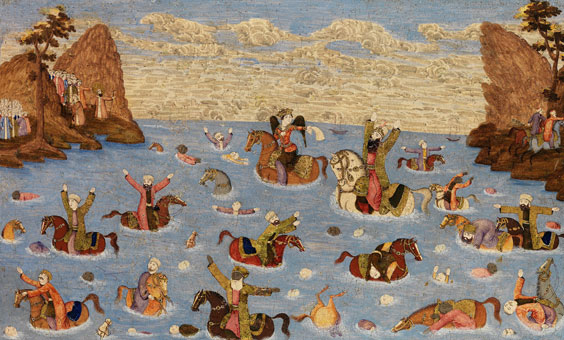 Pharaoh and His Army Drowning in the Sea
