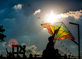 Kite-Flying Festival with Ahava by Robert Indiana