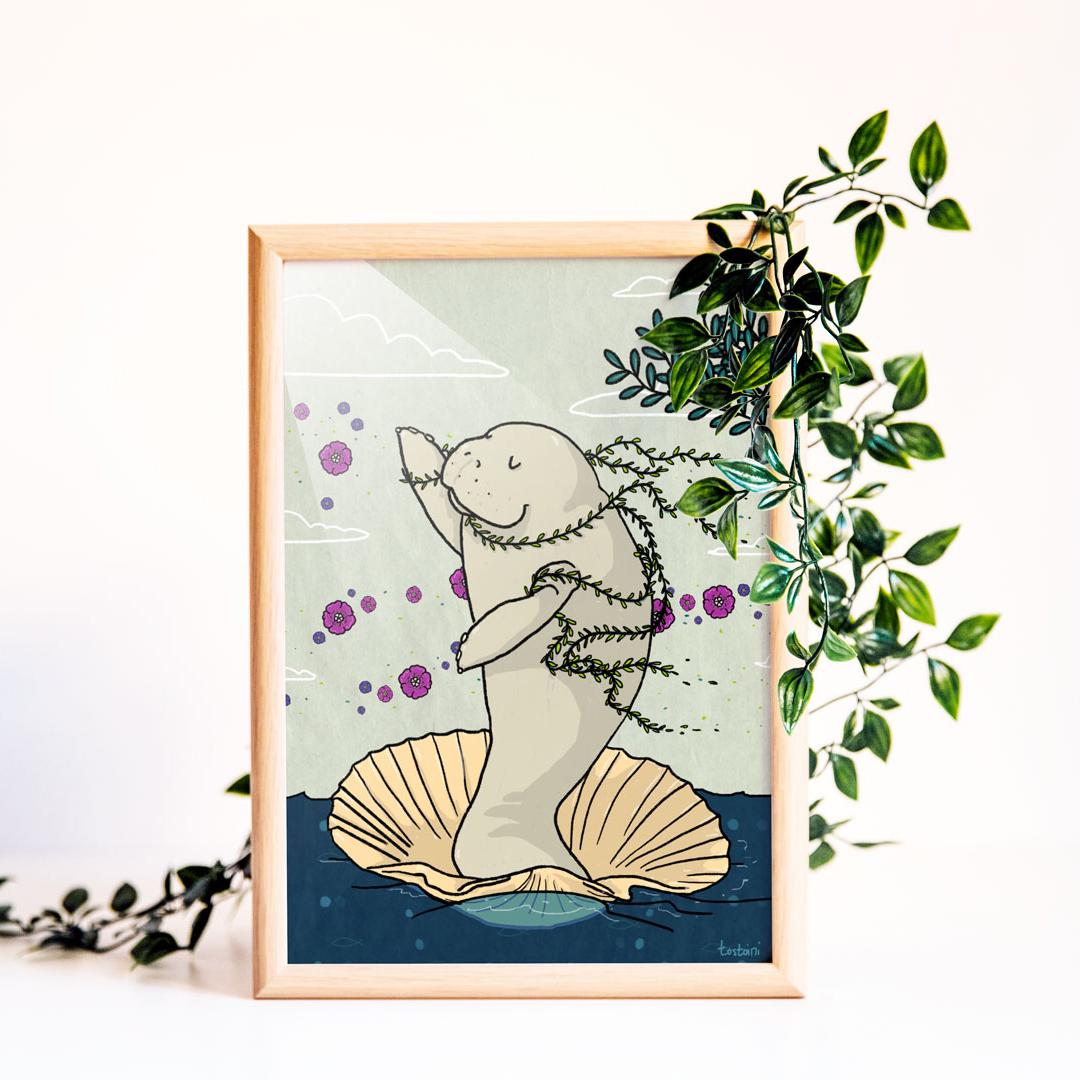 venus manatee illustration lamentino tostoini