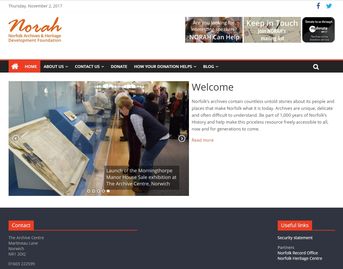 NORAH website