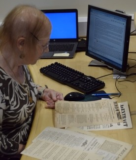 Volunteer at NRO cataloguing political squibs