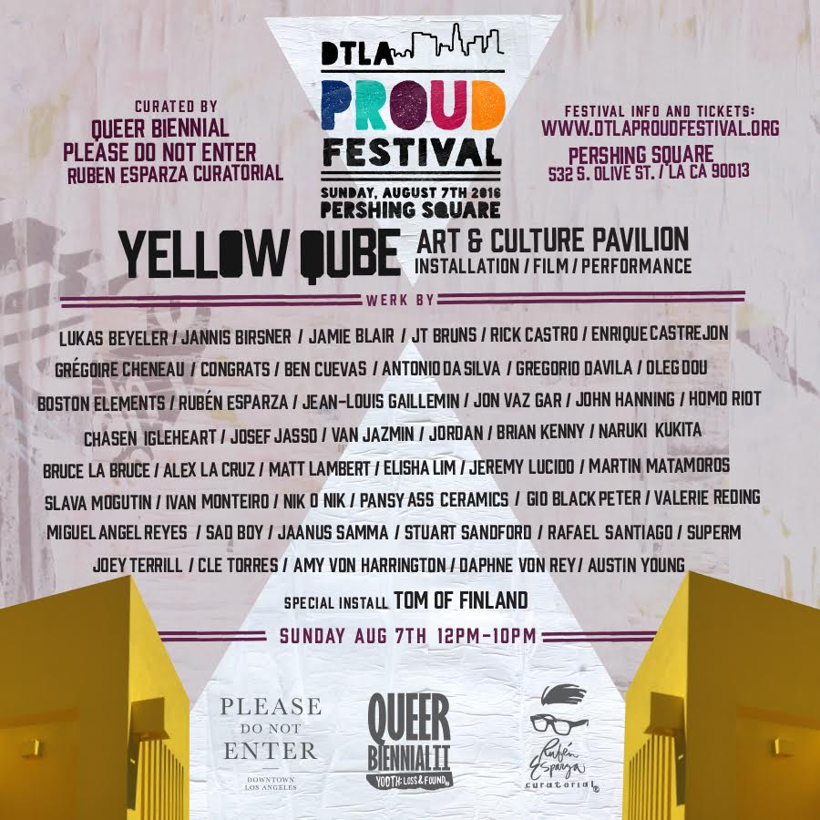 Yellow Qube at DTLA Proud Festival