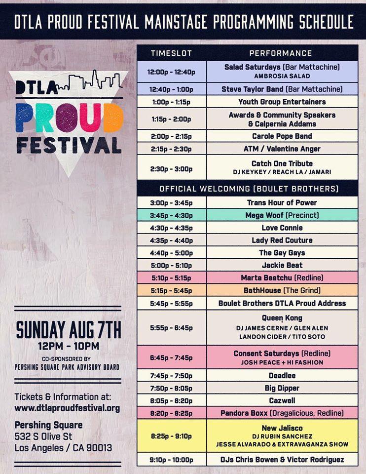 DTLA PROUD Festival Program