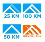 Distance logos