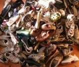 Pile of kids shoes