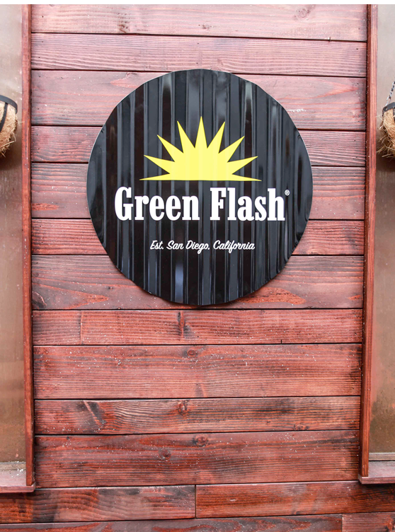 Green Flash Brewing Co. tacker sign