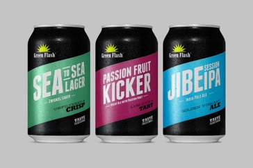 Green Flash Brewing Co. can packages