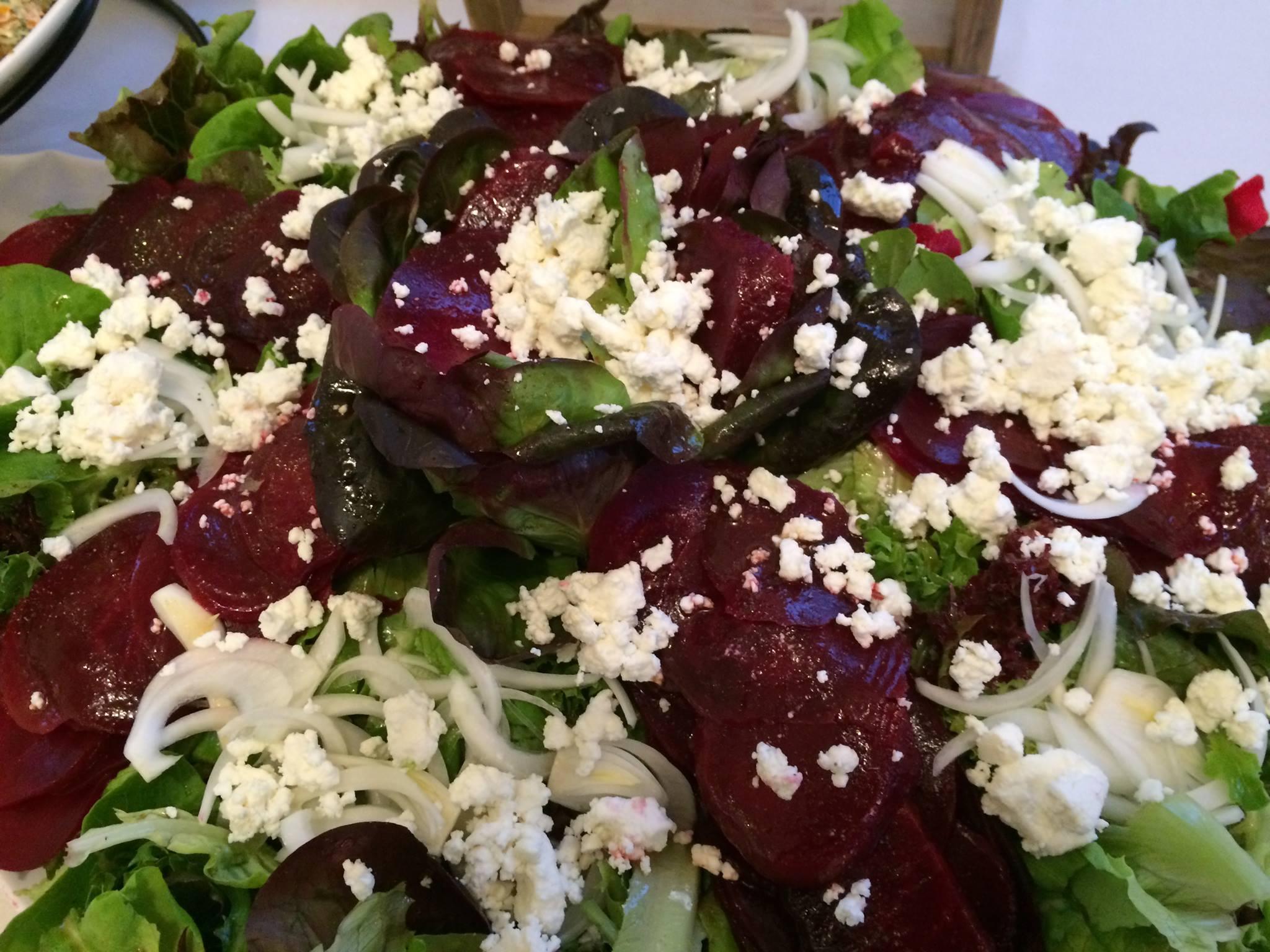 Beet Salad with Sorghum Cider Sassafras Vinaigrette