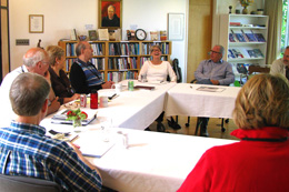 board members meeting at Collegeville