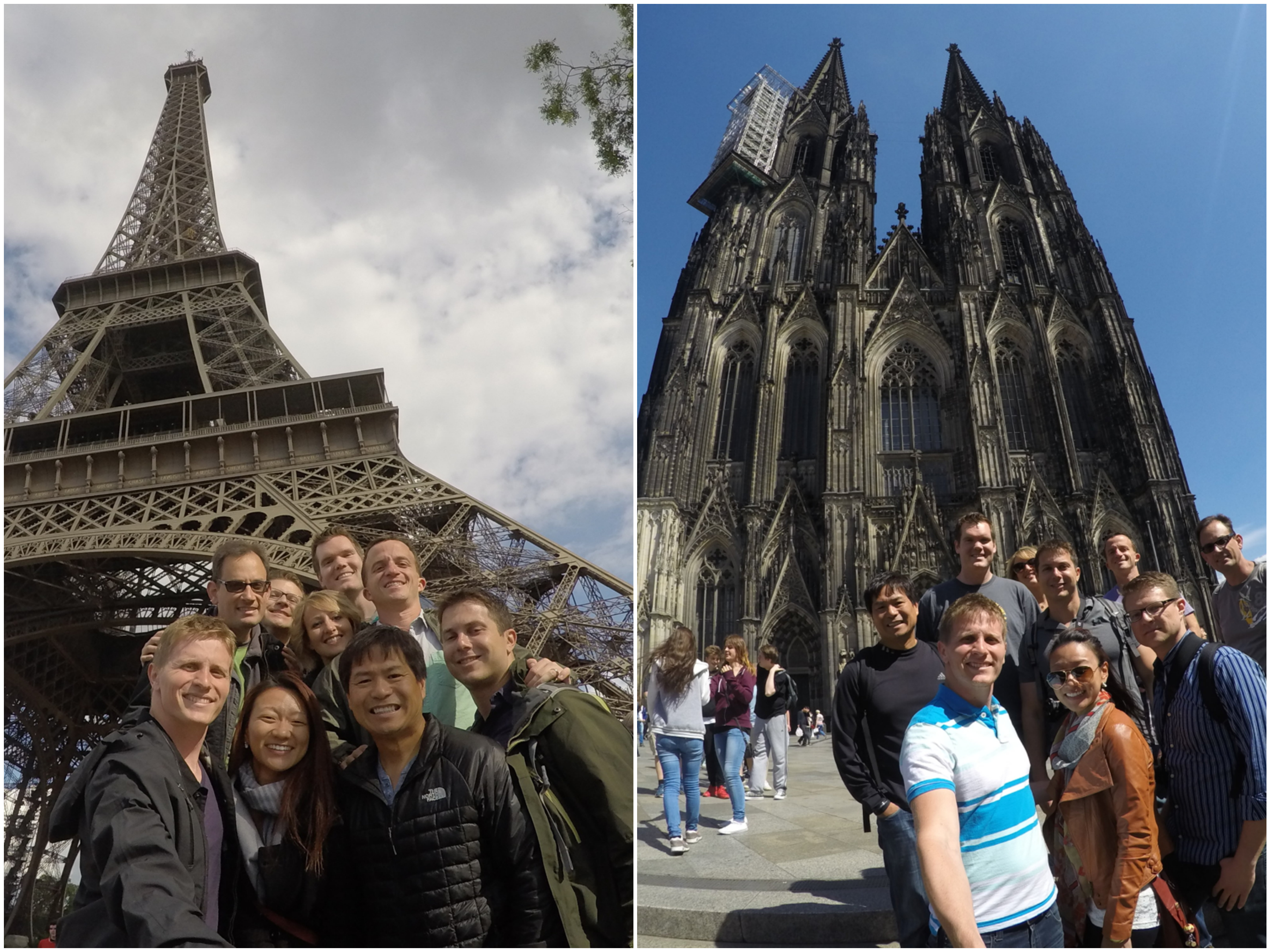 Eiffel Tower & Cologne Cathedral