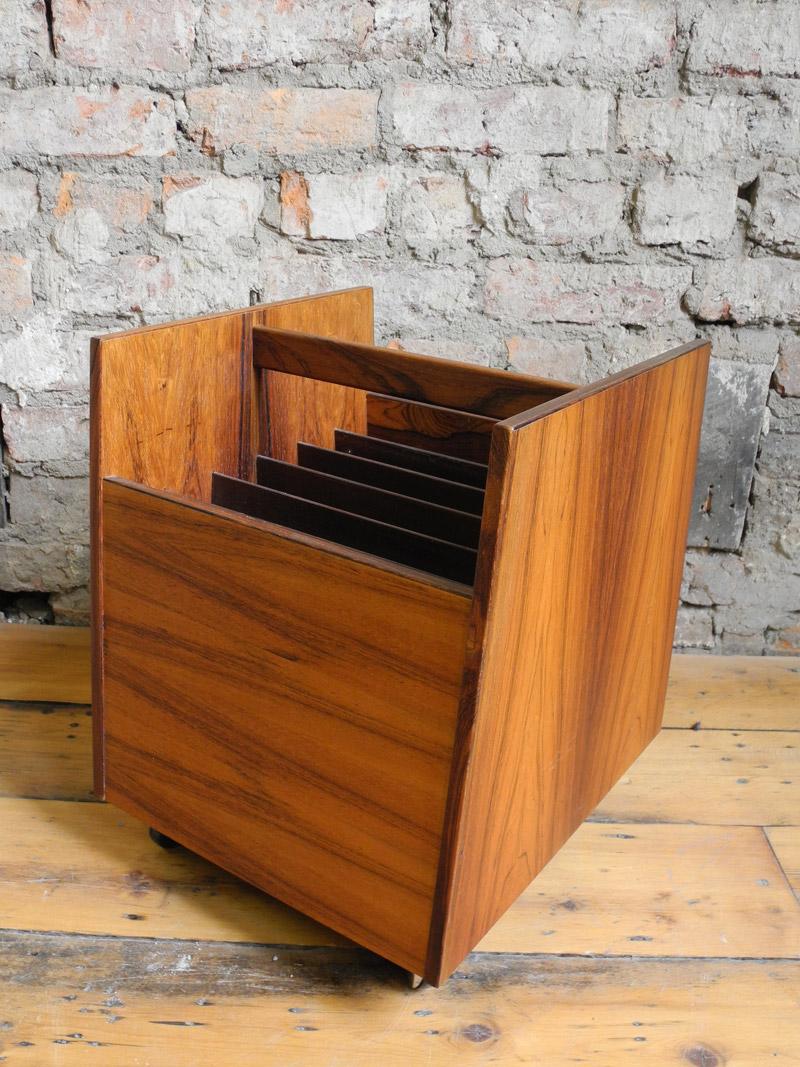 Rosewood Record Storage Unit