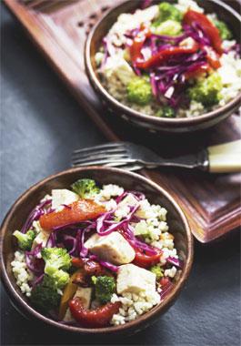 Tofu Grain Bowl with Vegetables