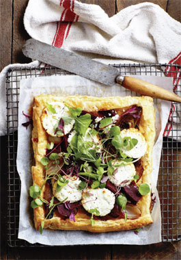 Flamegrilled Beetroot Tart with Goat's Milk Cheese