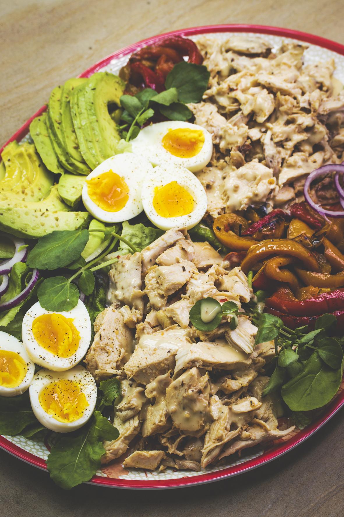 Chicken & Char-grilled Pepper Salad