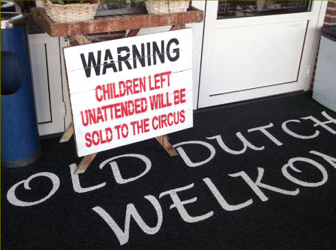 children left unattended will be sold